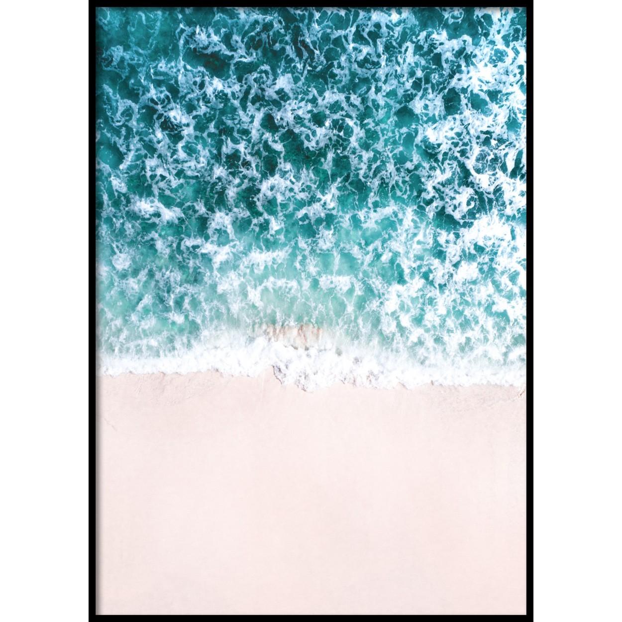 Pink Beach Poster