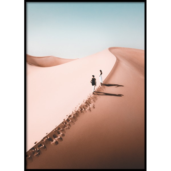 Desert Couple Poster