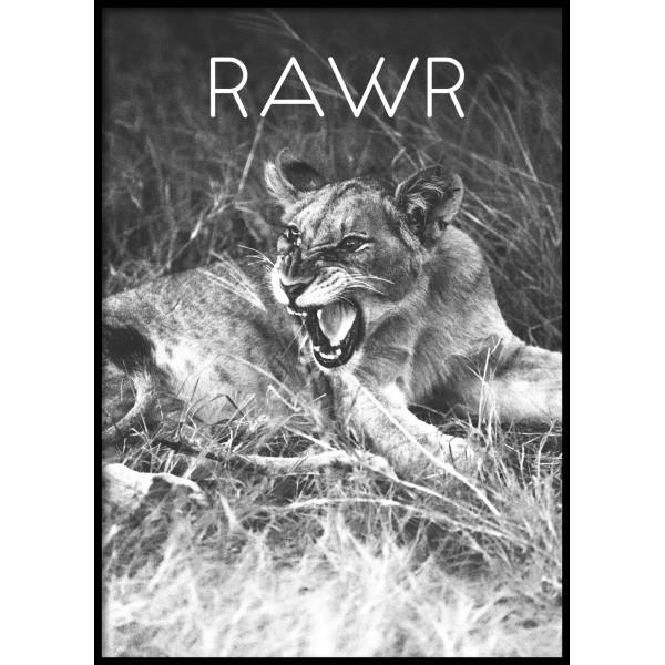 Rawr Lion Poster